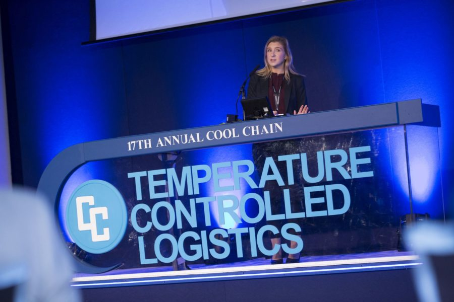 Kathryn Gordon speaking at the 2019 TCL event.